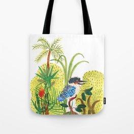 dacelo bird in a jungle Tote Bag
