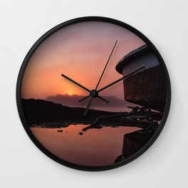 Boating on Mars Wall Clock