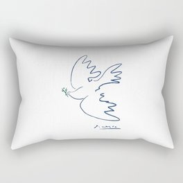 Pablo Picasso Dove Of Peace In Blue 1949 Artwork Reproduction Rectangular Pillow
