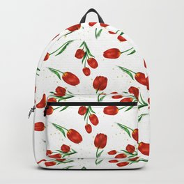 Red Tulips Backpack