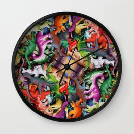 Toy Dinosaur collection 2 Wall Clock