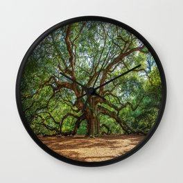 Angel Oak - Ancient Tree on Johns Island South Carolina Wall Clock