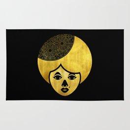 Golden Bronze Girl Rug