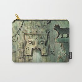 Curious Cat in Ancient Ruins Carry-All Pouch