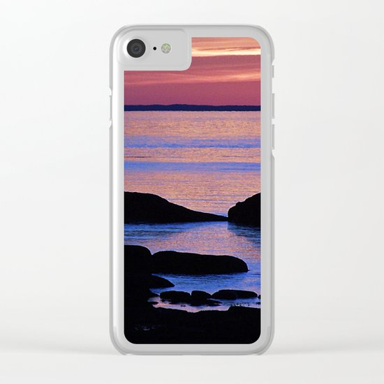 Nature's Evening Kiss Clear iPhone Case