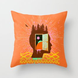 THOUGHT FREQUENCY Throw Pillow