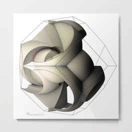 sphericalinversion_02_white Metal Print