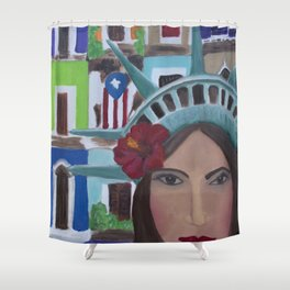 Julia de Burgos en San Juan, Puerto Rico Shower Curtain