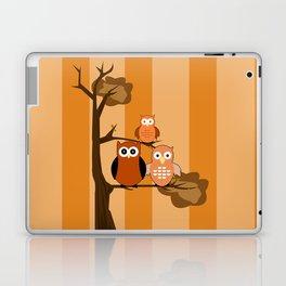 Orange Owls Laptop & iPad Skin