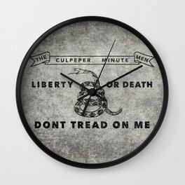 Culpeper Minutemen flag, aged vintage style Wall Clock