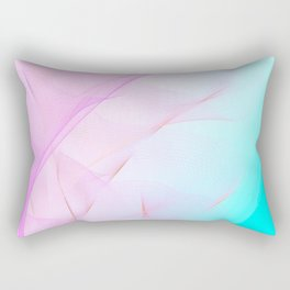 Pastel Motion Vibes - Pink & Turquoise #abstractart #homedecor Rectangular Pillow