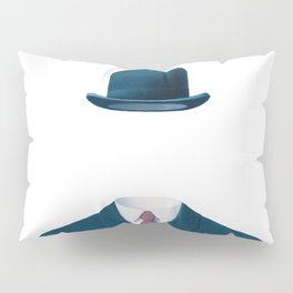 Man In a Bowler Hat by Rene Magritte, Artwork For Prints, Posters, Tshirts, Bags, Men Women, Kids Pillow Sham