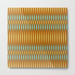 Mod Slashes, orange, blue, yellow Metal Print