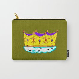 A Royal Crown with a Green Background Carry-All Pouch