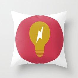 Lightning Bulb Throw Pillow