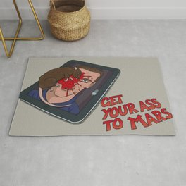 Get Your Ass to Mars Rug