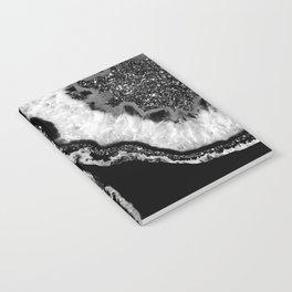 Yin Yang Agate Glitter Glam #4 #gem #decor #art #society6 Notebook