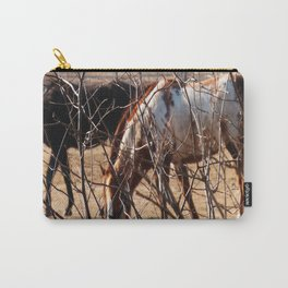 Horses Grazing Carry-All Pouch