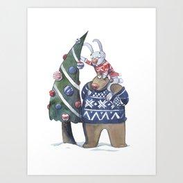 New year tree Art Print