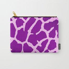 Purple Giraffe Print Carry-All Pouch