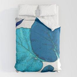 Vintage Blue Leaves II Comforters