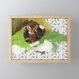 Littlest Foxes Framed Mini Art Print