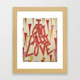 I Can't Call It Love Framed Art Print