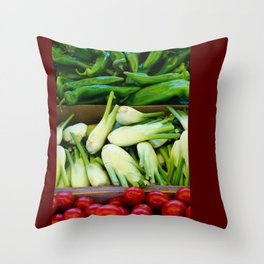 Graphic vegetables Throw Pillow