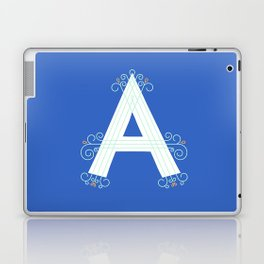 Monogram letter A Laptop & iPad Skin