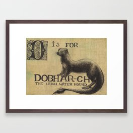 Alphabestiary D - Dobhar-Chu Framed Art Print