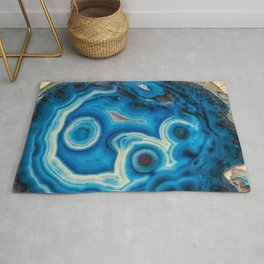 Blue Raindrop Agate 0026 Rug