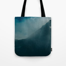 North Cascades Fog Tote Bag