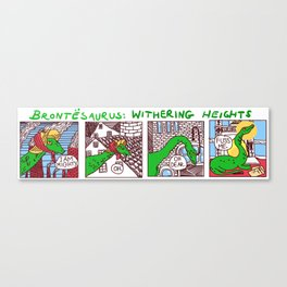 Brontesaurus: Withering Heights Canvas Print
