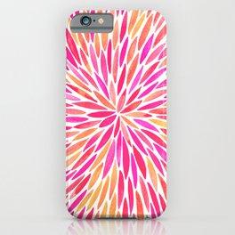 Watercolor Burst – Pink Ombré iPhone Case