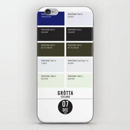 PANTONE glossary - Iceland - Grótta iPhone Skin