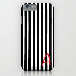Stripes with and A iPhone Case