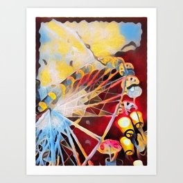 Spin the wheel Art Print