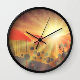 Soleil Levant Wall Clock