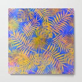 Yellow and Blue Jungle Metal Print