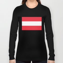 Flag of  Austria - High quality HD authentic version Long Sleeve T-shirt
