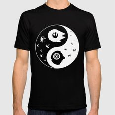 Star War Ying and Yang Mens Fitted Tee MEDIUM Black