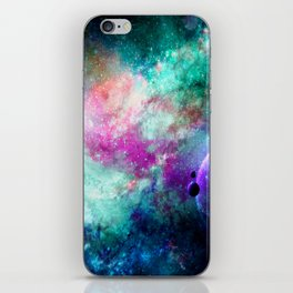 Teal Galaxy iPhone Skin