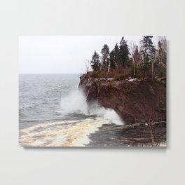 Splash on the Lake Bank Metal Print