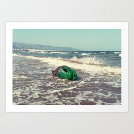 the green buoy Art Print