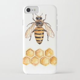 Bee and honeycomb iPhone Case