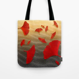 Red Ginko Tote Bag