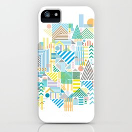 Geometric Mountain Landscape iPhone Case