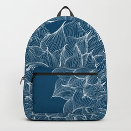 Flowers Blue Backpack