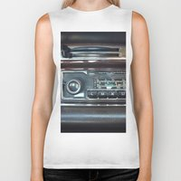 mercedes Biker Tanks featuring Vintage Radio Becker Europa by Premium
