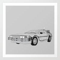 DeLorean DMC-12 Art Print